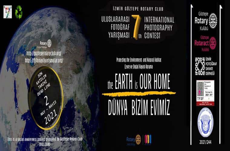 Göztepe Rotary Kulübü Derneği Uluslararası Fotoğraf Yarışması duyuru görselidir.