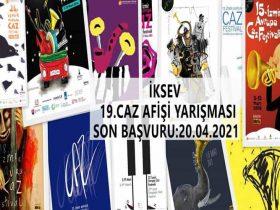 İzmir 19. Caz Afişi Tasarım Yarışması duyuru görselidir.