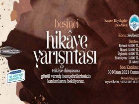 Kayseri Büyükşehir Belediyesi Hikaye Yarışması duyuru görselidir.