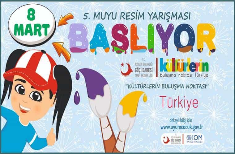 Kültürlerin Buluşma Noktası Türkiye Konulu Resim Yarışması duyuru görselidir.