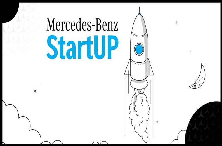 Mercedes-Benz StartUP 2021 duyuru görselidir.
