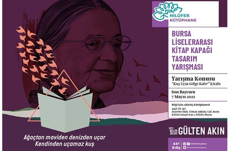 Nilüfer Belediyesi Kitap Kapağı Tasarım Yarışması duyuru görselidir.