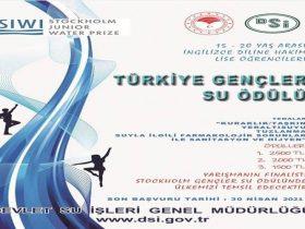 Türkiye Gençler Su Ödülü Proje Yarışması duyuru görselidir.