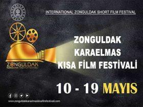 Uluslararası Zonguldak Karaelmas Kısa Film Yarışması duyuru görselidir.