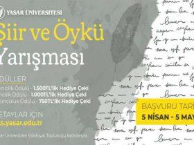 Yaşar Üniversitesi Şiir ve Öykü Yarışması duyuru görselidir.