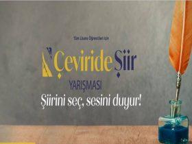 Ankara Bilim Üniversitesi Çeviride Şiir Yarışması duyuru görselidir.
