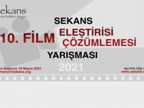 Film Eleştirisi ve Film Çözümlemesi Yarışması duyuru görselidir.
