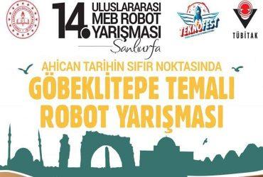 Göbeklitepe Temalı Uluslararası Robot Yarışması duyuru görselidir.