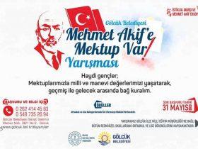 Mehmet Akife Mektup Var Yarışması duyuru görselidir.