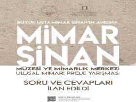 Mimar Sinan Müzesi ve Mimarlık Merkezi Ulusal Mimari Proje Yarışması duyuru görselidir.