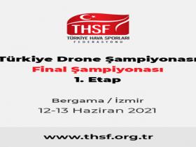 Türkiye Drone Şampiyonası 2021 Final Yarışı 1. Etap duyuru görselidir.