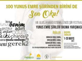 Uluslararası İstanbulensis Şiir Festivali Şiir Yarışması duyuru görselidir.